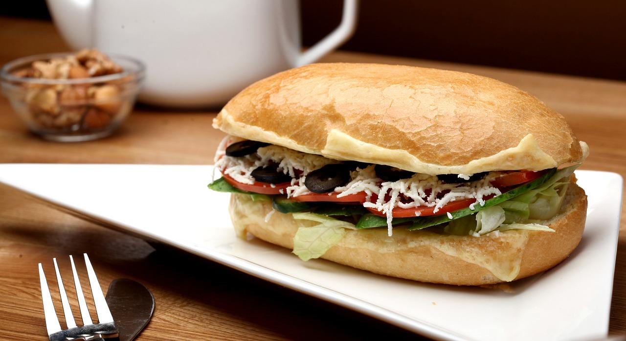 Hamburger aus Kichererbsenmehl